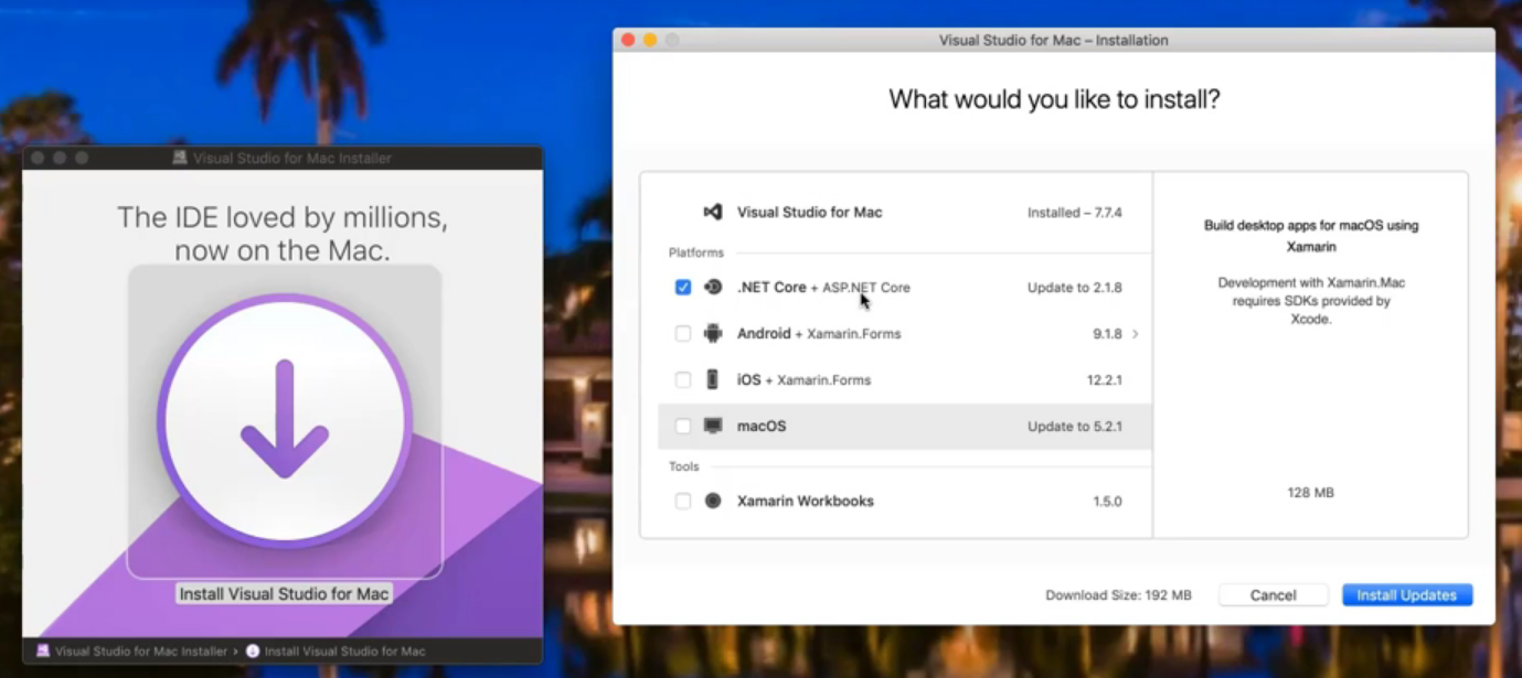 Visual Studio for Mac installation