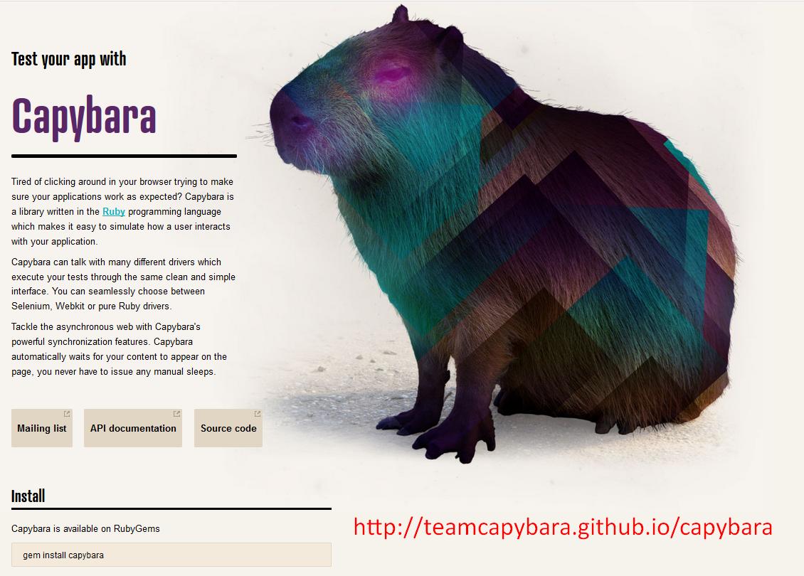 Introduction to Capybara