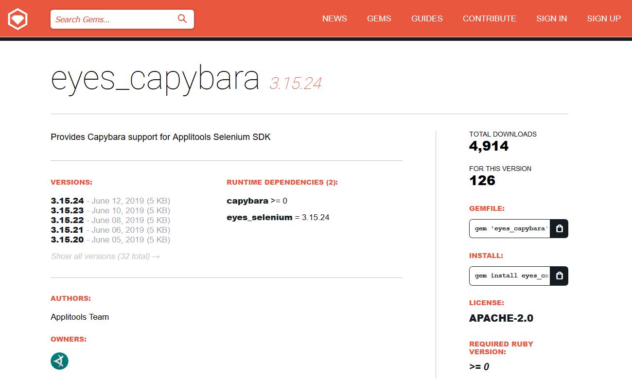Chapter 7 4 - Visual Testing: Applitools + Capybara
